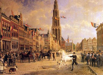 Eerelman Otto The horse fair on Grote Markt Sun