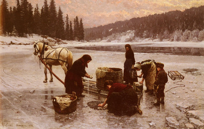 Elenaes Jahn Laundering, A Winters Day