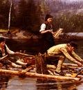 Ekenaes Jahn Fischfang Am Flusse