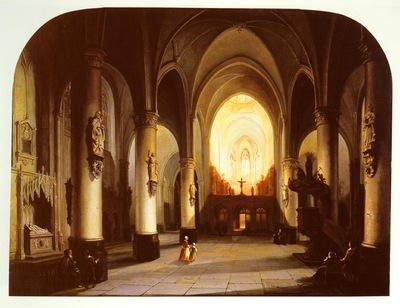 Elven Jan Baptiste Tetar van Interior Of A Church