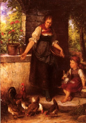 Epp Rudolf Feeding The Chickens
