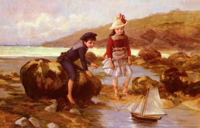Escudier Charles Jean Auguste Enfants Pechant