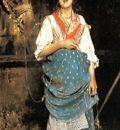 Esposito Gaetano A Peasant Girl With A Horse