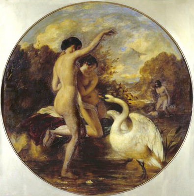 Etty William Female Bathers Surprised by a Swan