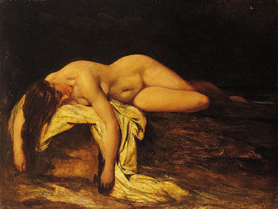 Etty William Nude Woman Asleep
