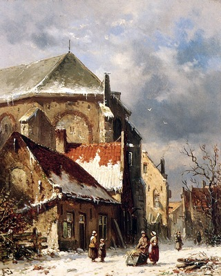 Eversen Adrianus City view in the winter Sun