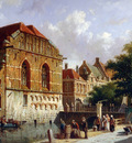 Eversen Adrianus View on canal Sun