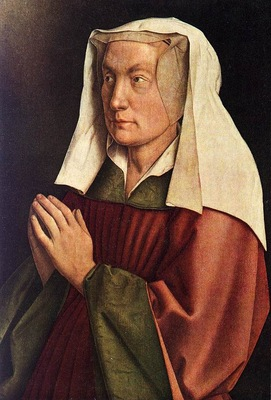 Eyck Jan van The Ghent Altarpiece The Donor s Wife detail