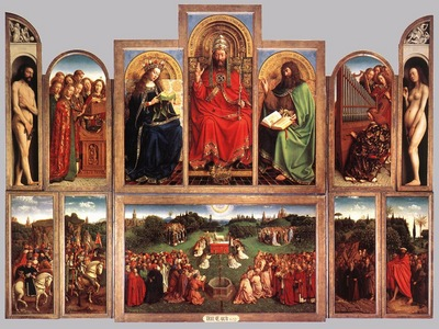 Eyck Jan van The Ghent Altarpiece wings open