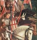 Eyck Jan van The Ghent Altarpiece The Soldiers of Christ detail