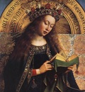 Eyck Jan van The Ghent Altarpiece Virgin Mary detail