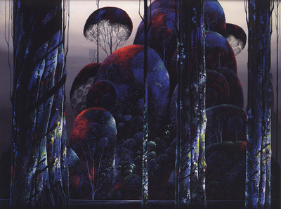 bs Eyvind Earle Trees Draped in Autumn