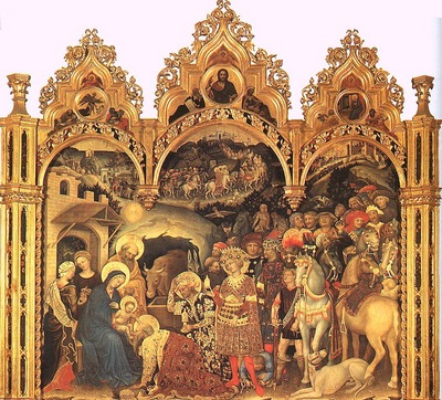Gentile da Fabriano The Adoration of the Magi, 1422, tempera