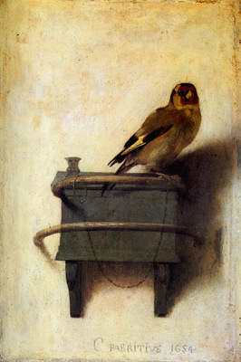 Fabritius Carel The goldfinch Sun