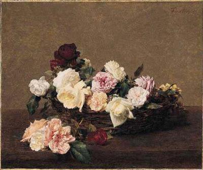 Fantin Latour A Basket of Roses
