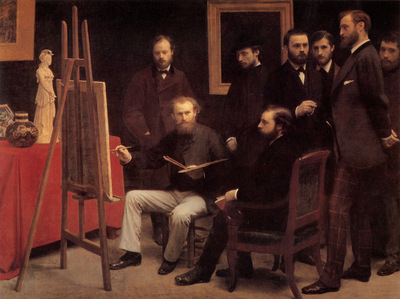Fantin Latour A Studio in The Batignolles