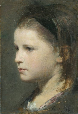 Fantin Latour Head of a young girl