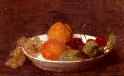 Fantin Latour Henri A Bowl Of Fruit
