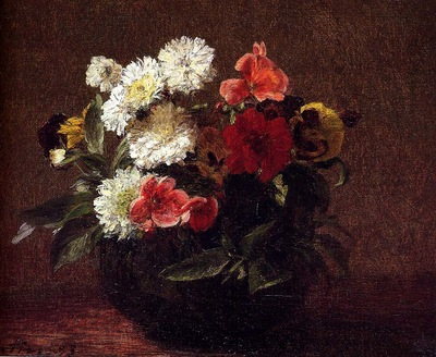 Fantin Latour Henri Flowers In A Clay Pot