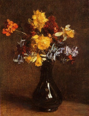 Fantin Latour Henri Vase of Flowers
