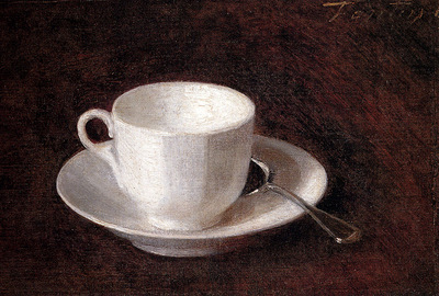 Fantin Latour Henri White Cup And Saucer
