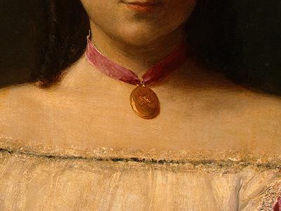 Fantin Latour Mademoiselle de Fitz James 1867 detail3