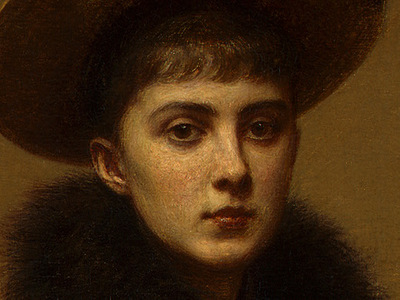 Fantin Latour Portrait of Sonia 1890 detail3