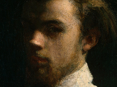 Fantin Latour Self Portrait 1858 detail1