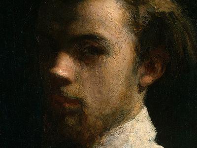 Fantin Latour Self Portrait 1858 detail1