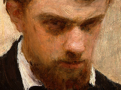 Fantin Latour Self Portrait 1861 detail3
