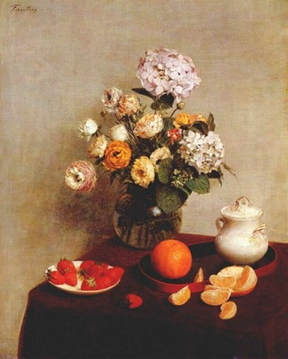 fantin latour still life vase of hydrangeas and ranunculus
