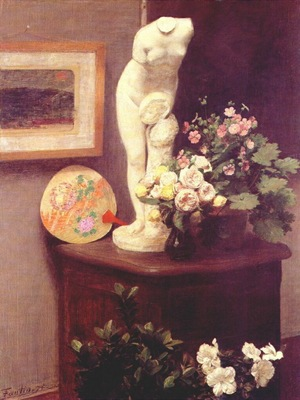 fantin latour flowers and various objects