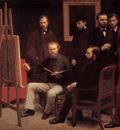 Fantin Latour A Studio in The Batignolles