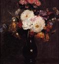 Fantin Latour Dahlias Queens Daisies Roses and Cornflowers