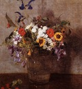 Fantin Latour Henri Diverse Flowers
