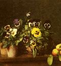 Fantin Latour Henri Still Life With Pansies