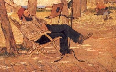 Diego Martelli a Castiglioncello 1867 Collezione Privata
