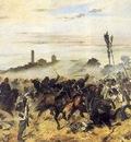 Carica di cavalleria a Montebello 1862 Livorno, Museo Fatt