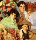 Ferrer Comas Edouard Flower Gatherers