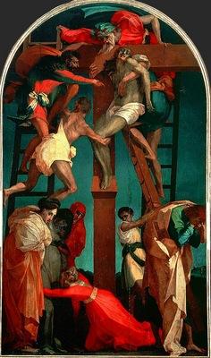 Rosso Fiorentino Korsnedtagningen, 1521, 330x195 cm, Pinacot