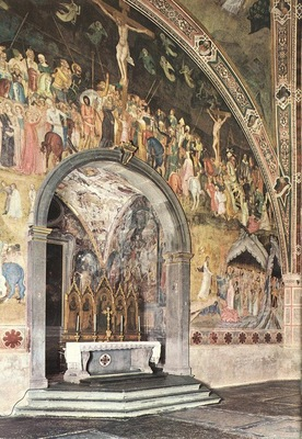 Andrea da Firenze Frescoes on the central wall, 1365 68, Cap