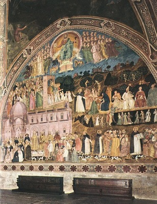 Andrea da Firenze Frescoes on the right wall, 1365 68, Cappe