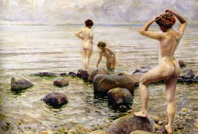 Paul Fischer Bedende Kvinder A Morning Dip