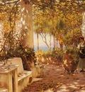 Fisher Horace A Peasant Girl On A Sunlit Veranda