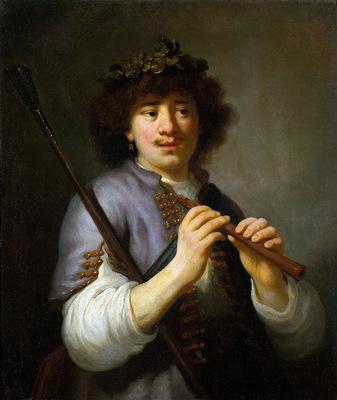 Flinck Govert Rembrandt as shepherd Sun