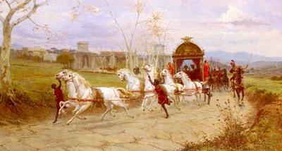 Forti Eduardo Hadrians Departure From The Villa At Tivoli