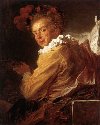 Fragonard Man Playing an Instrument The Music