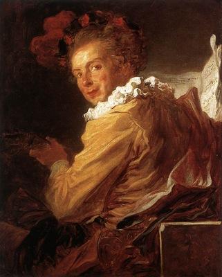 Fragonard Man Playing an Instrument The Music