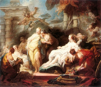 Fragonard Psyche showing her Sisters her Gifts from Cupid