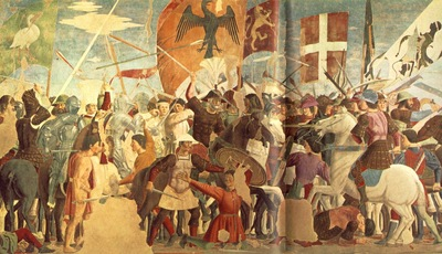 Piero della Francesca The Arezzo Cycle Battle between Heraclius and Chosroes detail [03]
